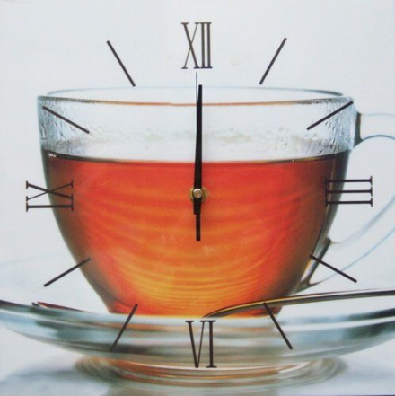 Tea In Glass Cup Square Wall Clock